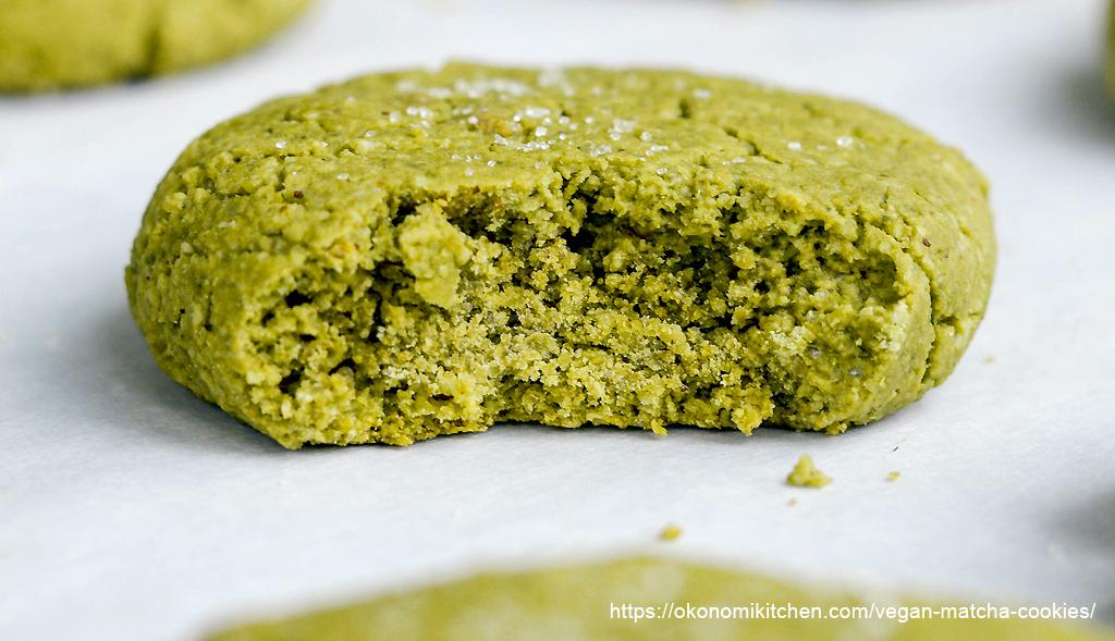 Biscotti al te Matcha in polvere verde