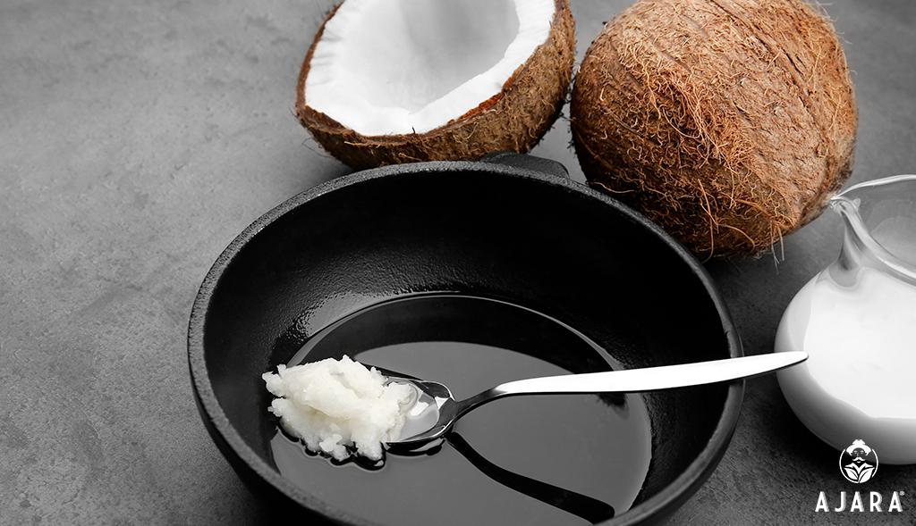 aceite de coco en la cocina