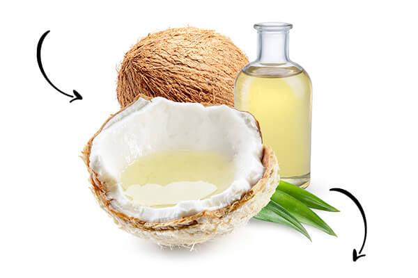 Prodotti a base di cocco biologico, olio di cocco, sciroppo di cocco