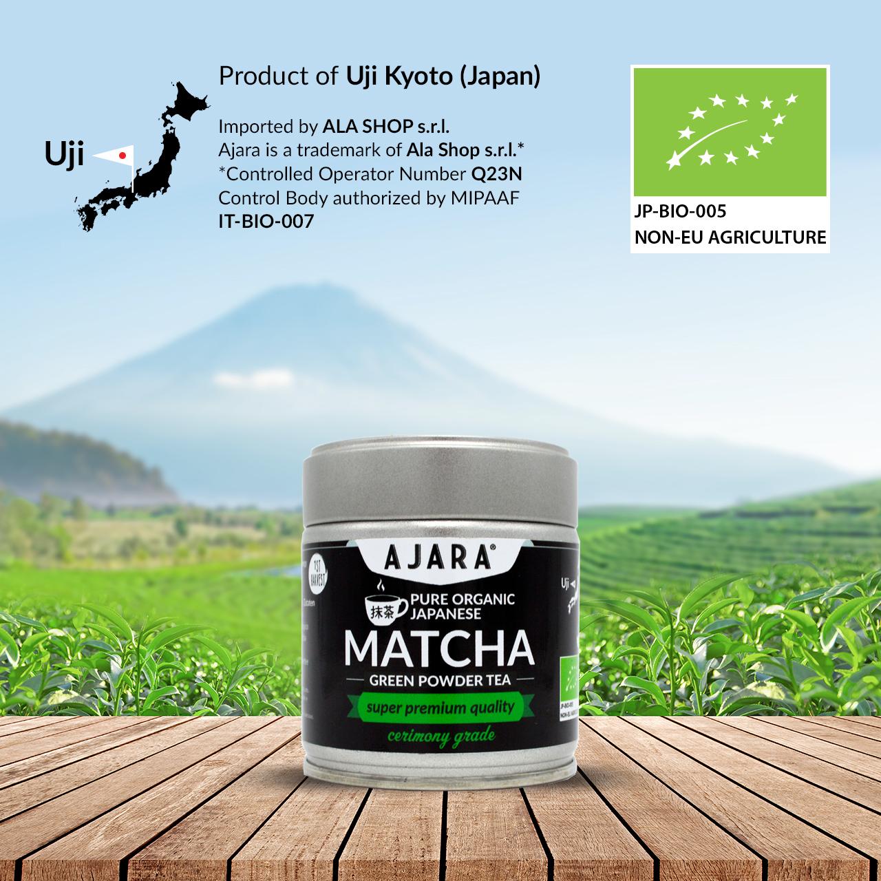 Té verde ceremonial de Japón Uji Kyoto