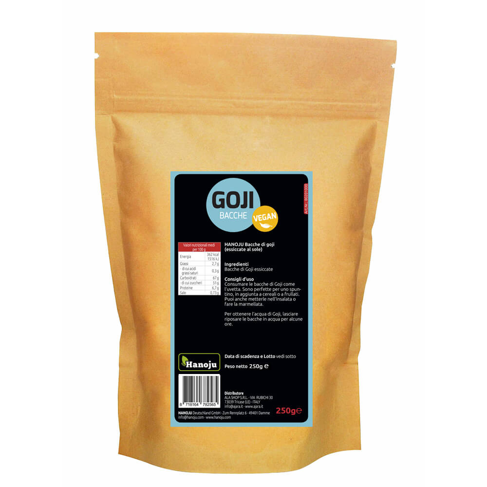 Bayas orgánicas de goji 250 gr