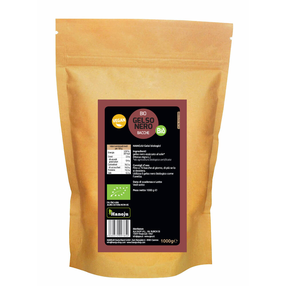 Organic black mulberry 1000 gr