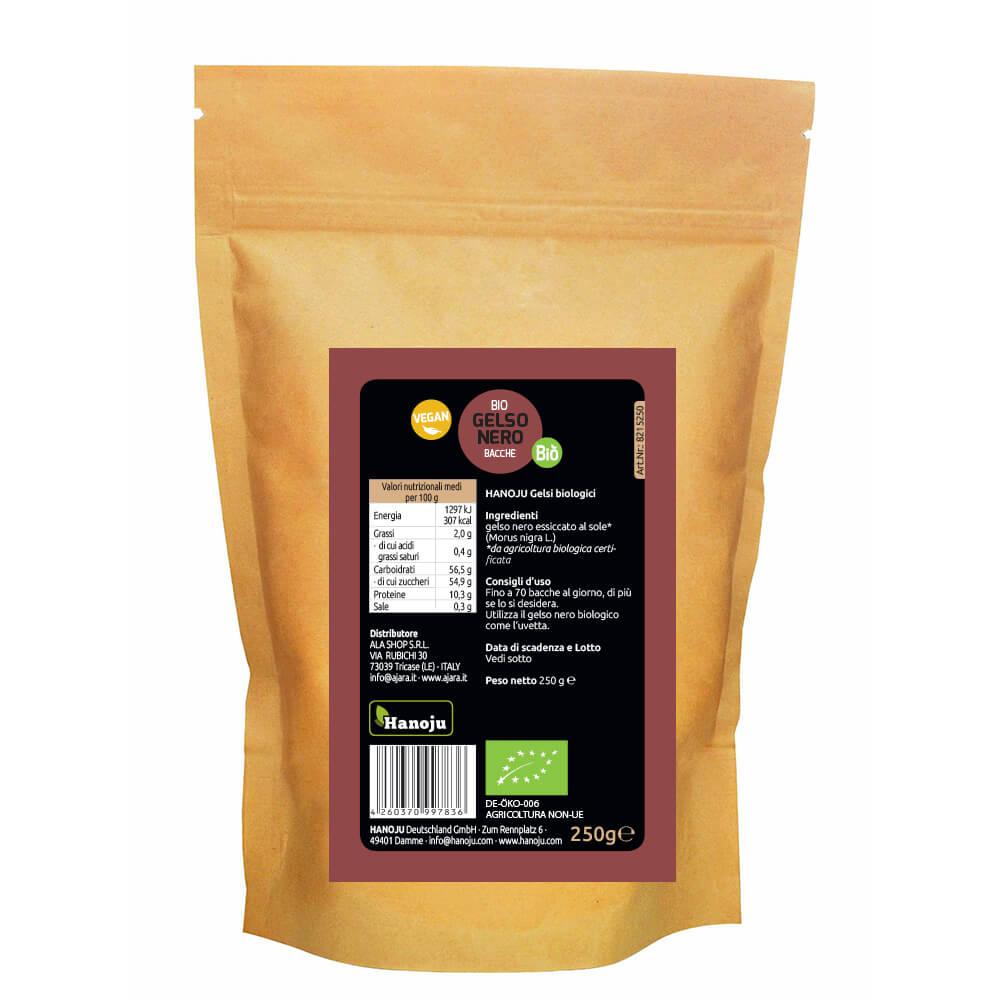 Organic black mulberry 250 gr