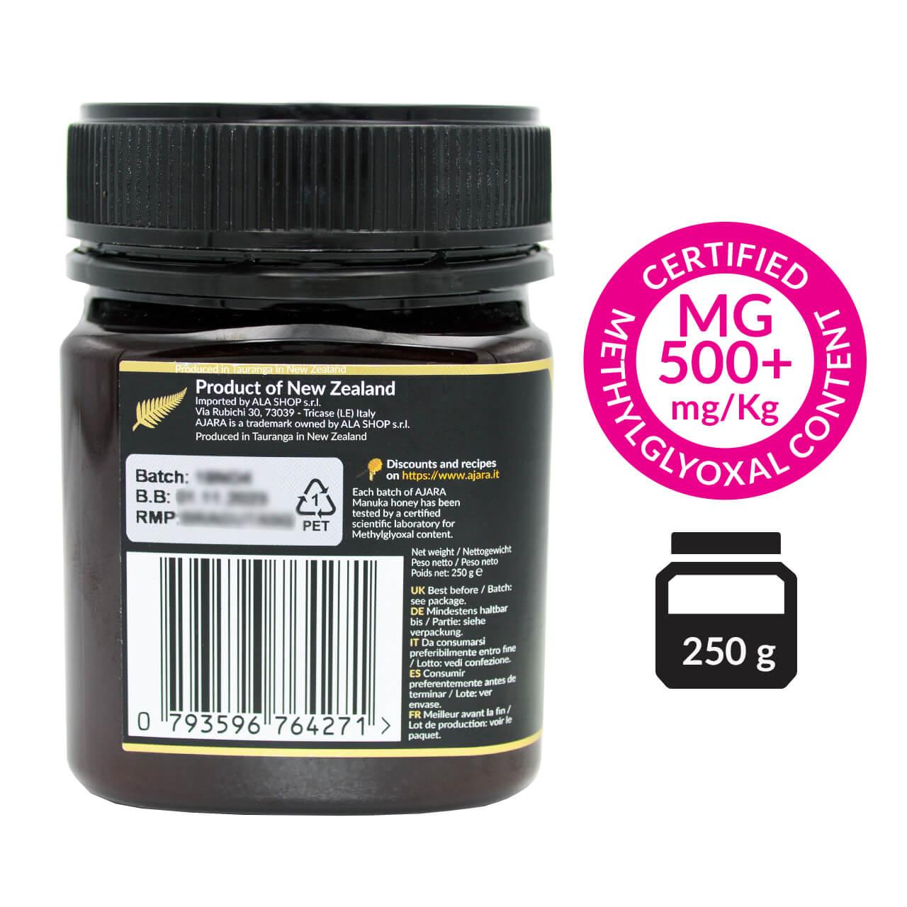 Pura miel de manuka  500 mgo