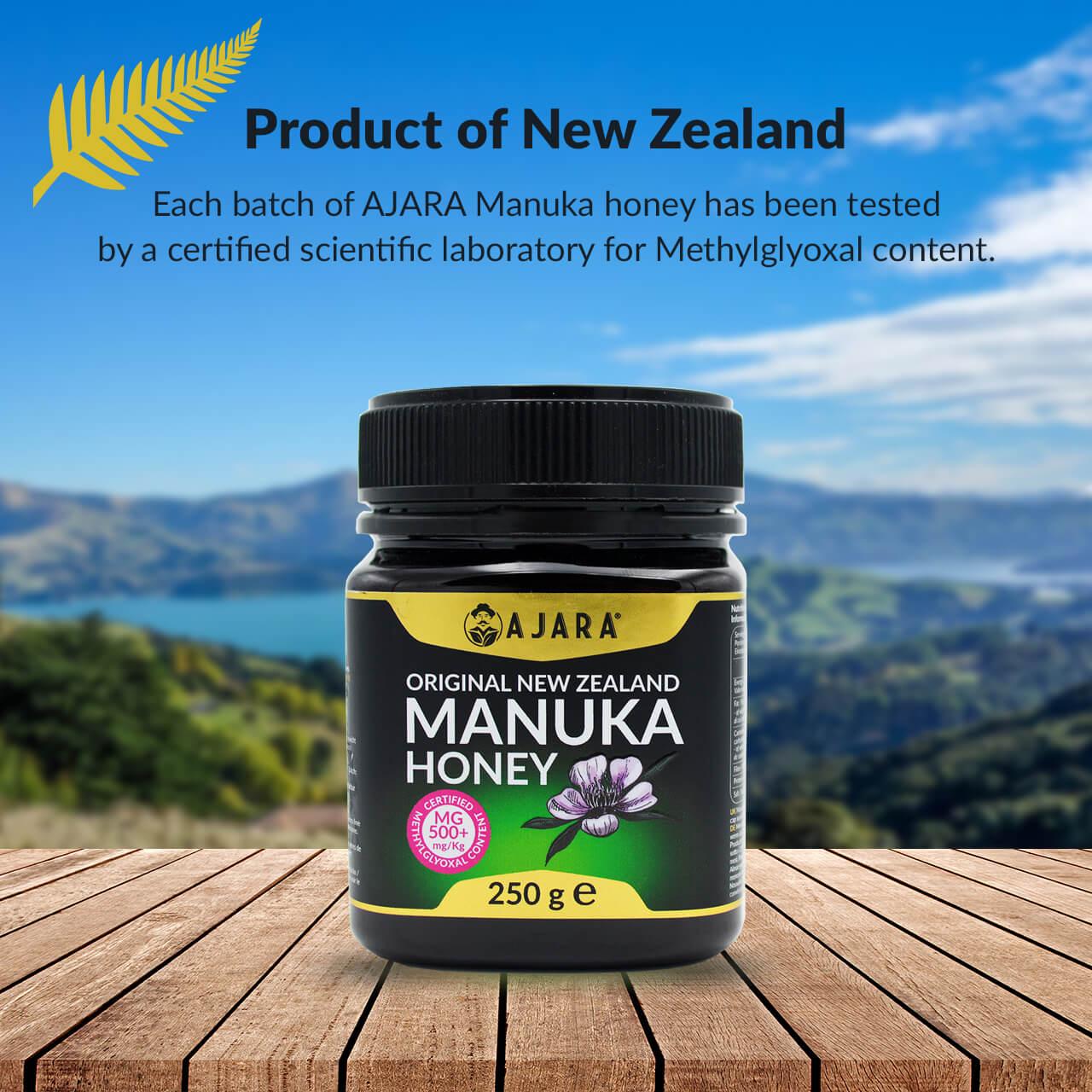 Miel de Manuka certificada de Nueva Zelanda