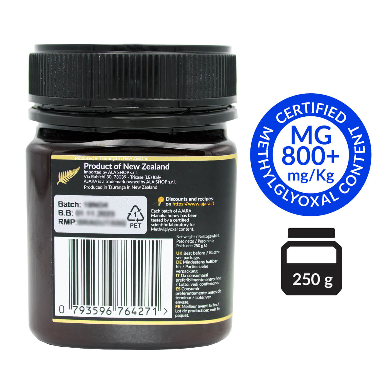 Pure Manuka Honey 800 mgo