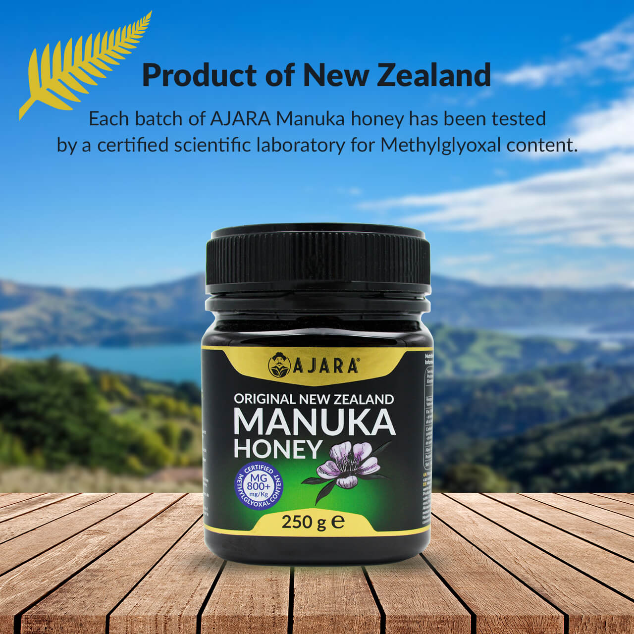 Certified Manuka Honey from New Zealand