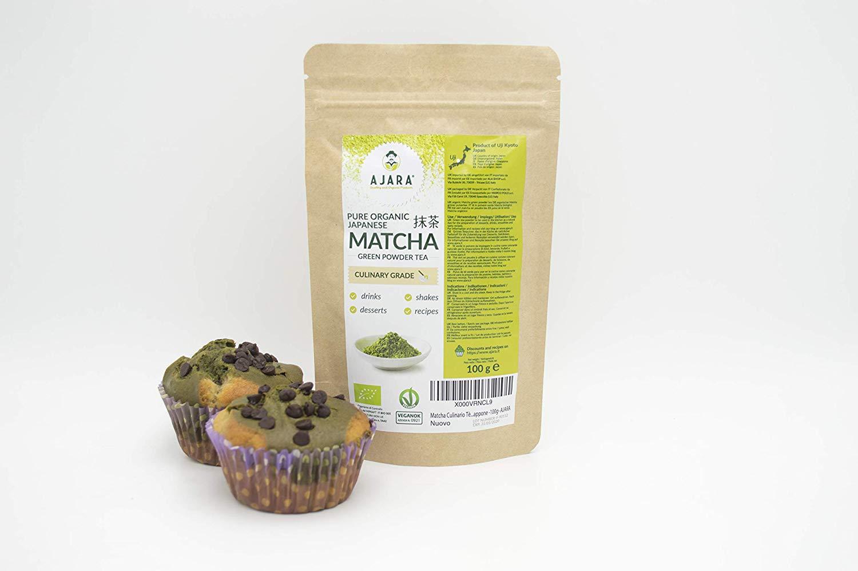 Tè verde in polvere per dolci