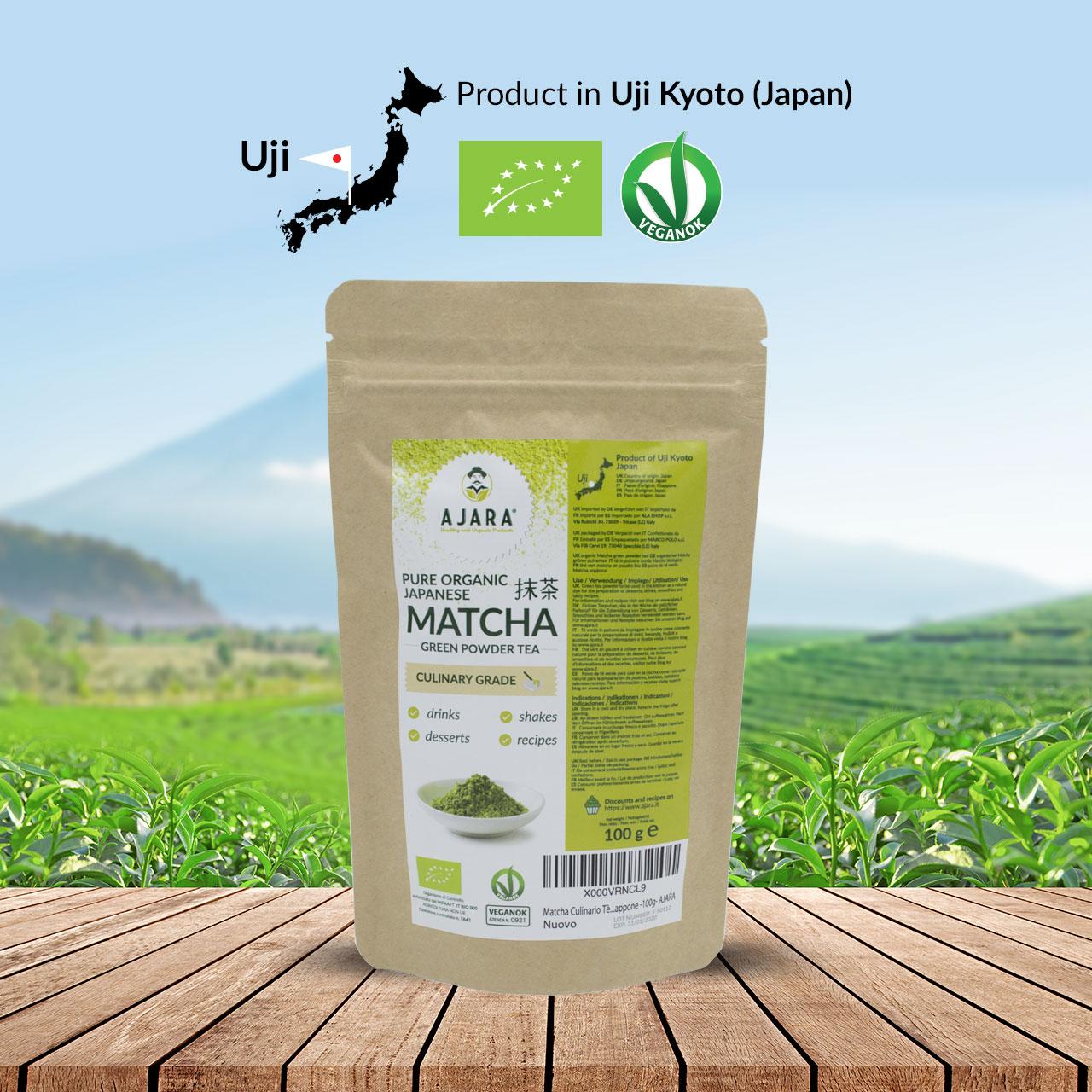 Tè verde Matcha giapponese grado culinario