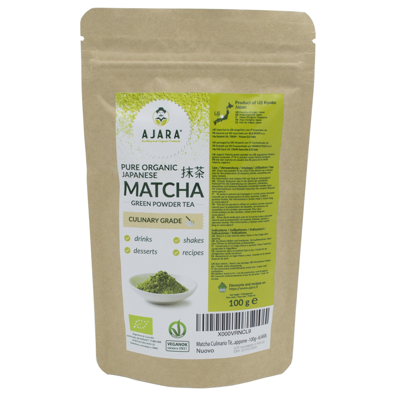 Matcha green tea culinary grade