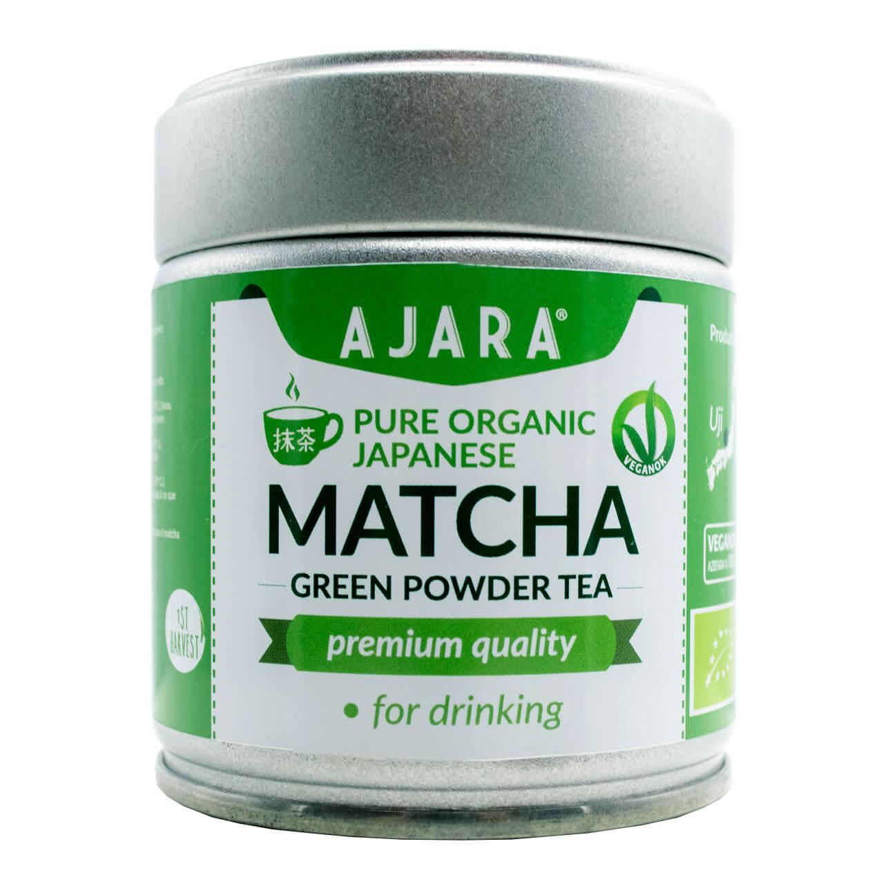 Té verde matcha orgánico en polvo japonés