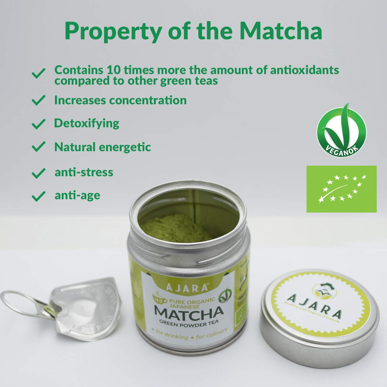 The properties of Matcha green tea
