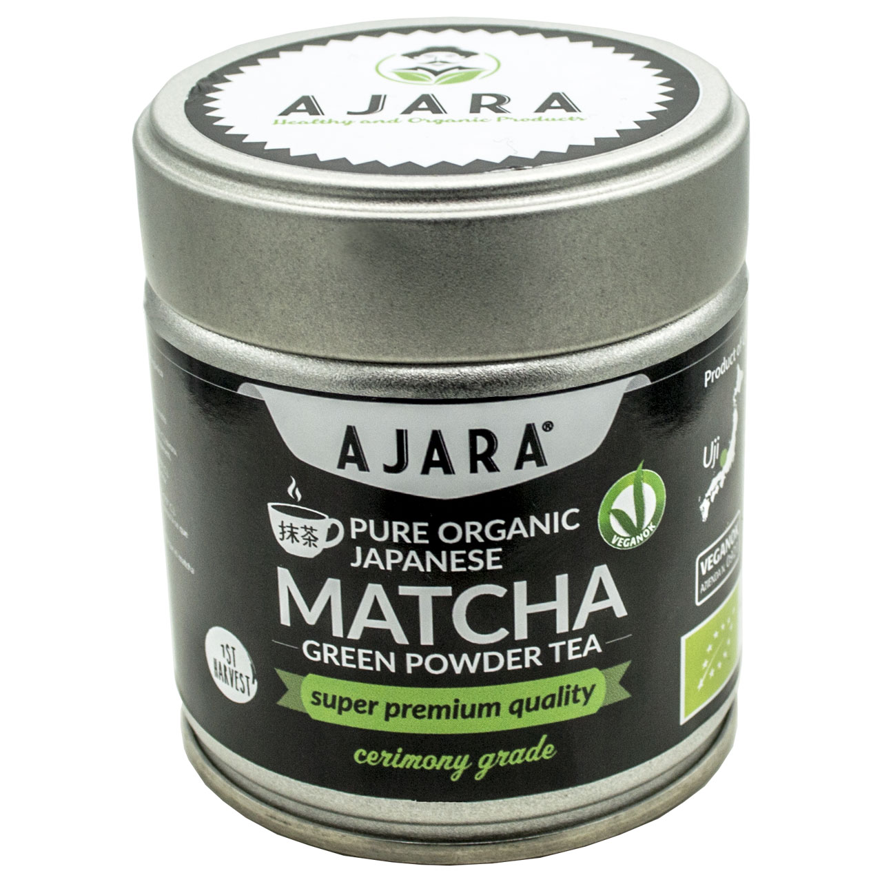 Powdered ceremonial Matcha tea