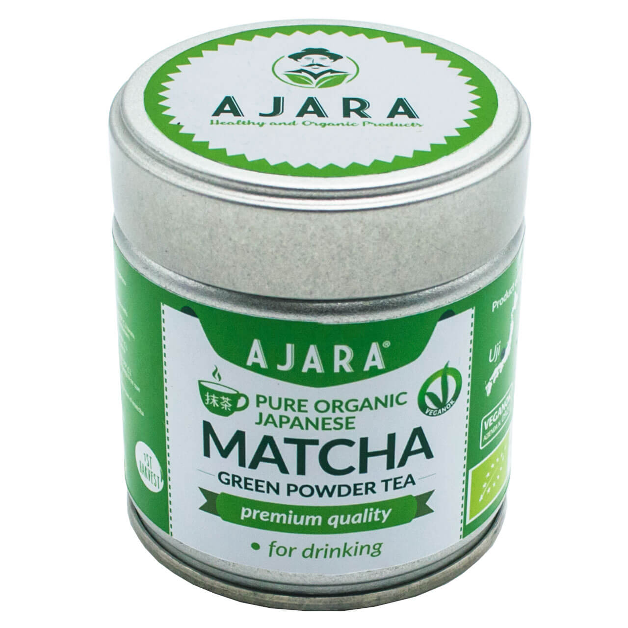 Powdered green tea matcha
