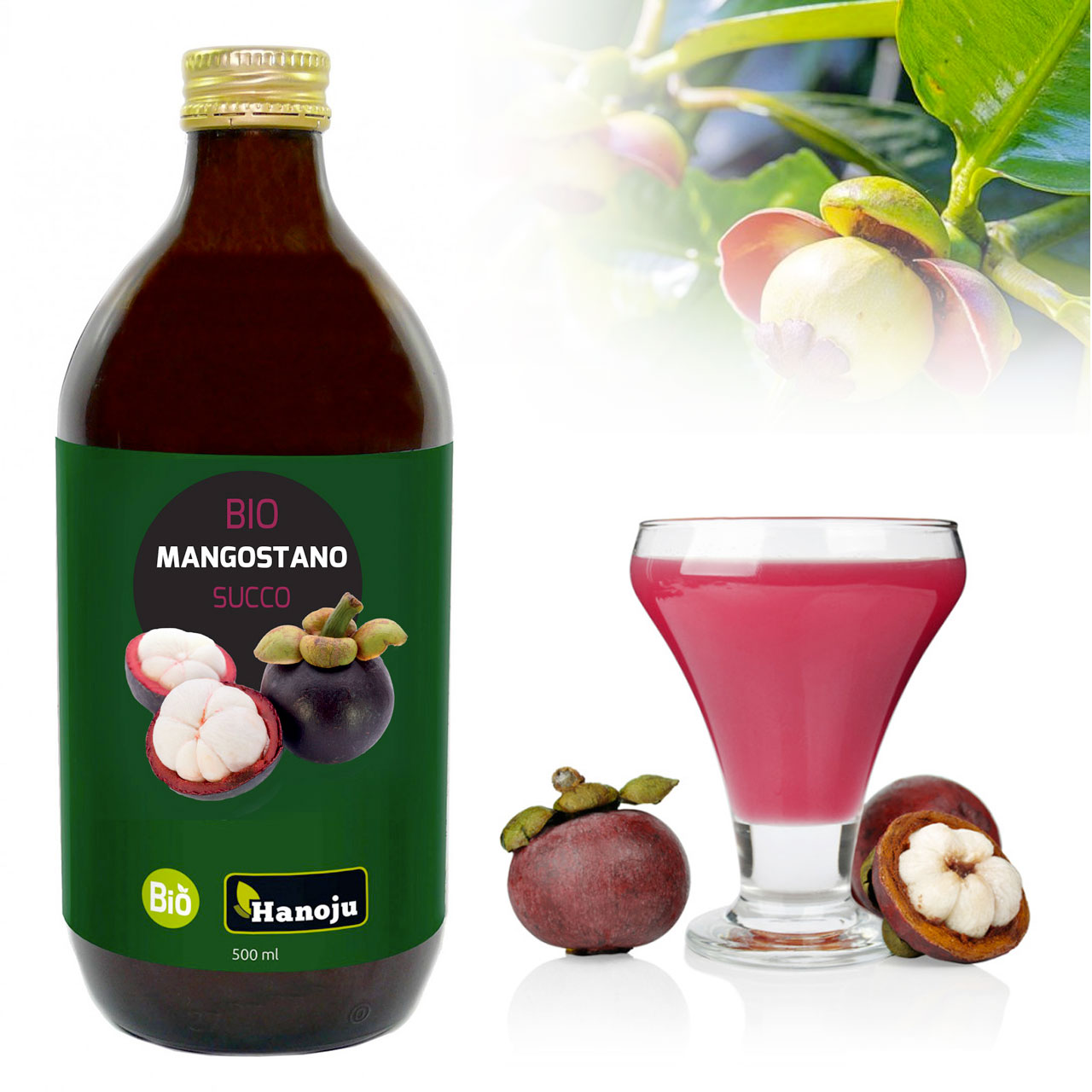 Pure Mangosteen juice without added sugar